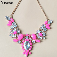 Buy brand fashion Luxury gem Crystal Flower maxi Statement Necklace women Jewelry Lovers' collar choker Necklace Party Jewelry for $1.35 in AliExpress store