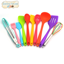 Premium Silicone Kitchen Cooking Utensil Heat-Resistant Kitchen Cooking Tools FDA Approved(China)