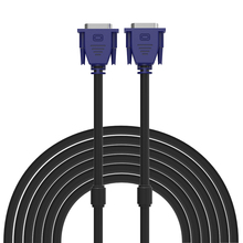 1.5m 4.6ft 3m 8.8ft 5m 15.5ft High quality Bule VGA to VGA Cable VGA/SVGA HDB15 Male to Male Extension Cable(China)