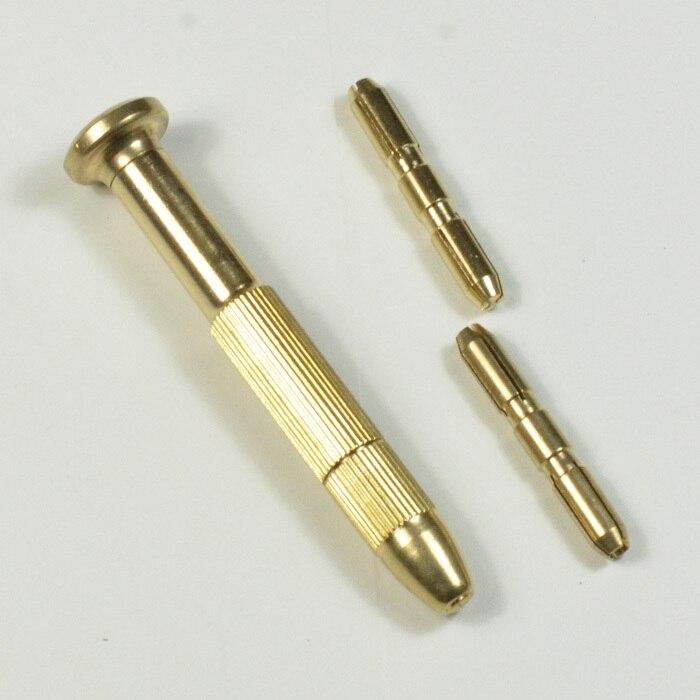 1 set DIY Brass Screwdrivers Bar for Jewelry PCB Wood Nail Drill Art Charm Piercing Handheld Drill Chuck Set<br><br>Aliexpress