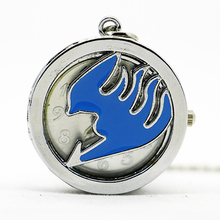 New Hot Sales Silver Small Size Dragon Pocket Watch Necklace Pendant Women Men's Best Gift