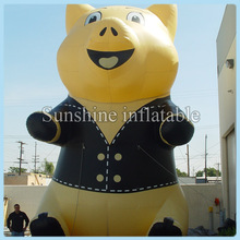 16ft giant inflatable pig balloons, inflatable standing pig for advertisement
