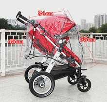 Universal baby stroller accessory Baby carriages rain cover good quality cheap price baby Windproof/Dust rain coat car-covers#TX