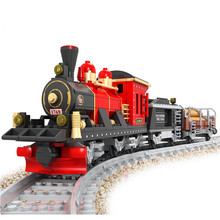 Assemblage Track Old-Fashioned Train A3 Blocks Models & Building Toy Enlighten Bricks Educational Toys For Children