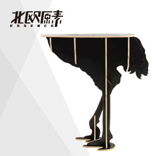 New product / furniture / Home Furnishing ostrich sidetable style decoration 80*40*60cm(China)