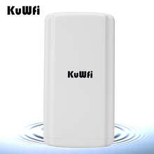 Kuwfi Long Range Wireless Bridge 150Mbps High Power Wireless Router Outdoor CPE Super WDS Wireless Network With 24V POE Adapter(China)