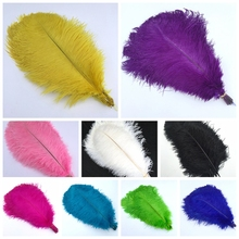 500 Pcs 40-45cm beautiful cheap colored ostrich feathers diy jewelry accessories wedding decorations plume Feather ostrich(China)