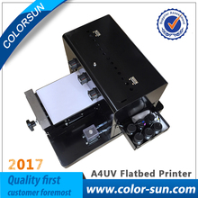 New A4 small size UV Printer Flatbed Printer with emboss effect for Phone Case Printer, wooden, leather, ABS,TPU,printer(China)