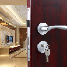 Fashion Mechanical Locks Aluminum Space Split Lock Indoor Wooden Door Lockset Room Wholesale Handle Door-locks