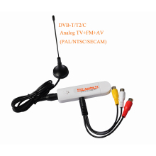 Digital DVB t2 PVR Analog USB TV stick Tuner Dongle PAL/NTSC/SECAM with antenna Remote HDTV Receiver for DVB-T2/DVB-C/FM/DVB/AV