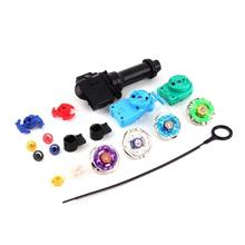Beyblade Metal Spinning Hand Spinner Beyblade Sets Fusion 4D 4 Gyro Box Fight Master Beyblade String Launcher Grip Kids Toys