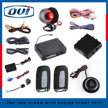 Smart Remote Car Starter Module With Engine Start Stop Button PKE Car Alarm Security Alarm(China)