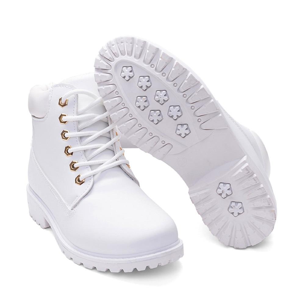 Szyadeou Women Ladies Round Toe Lace-up Faux Boots Ankle Casual Martin Shoes botas mujer invierno kozaki damskie schoenen 30 15