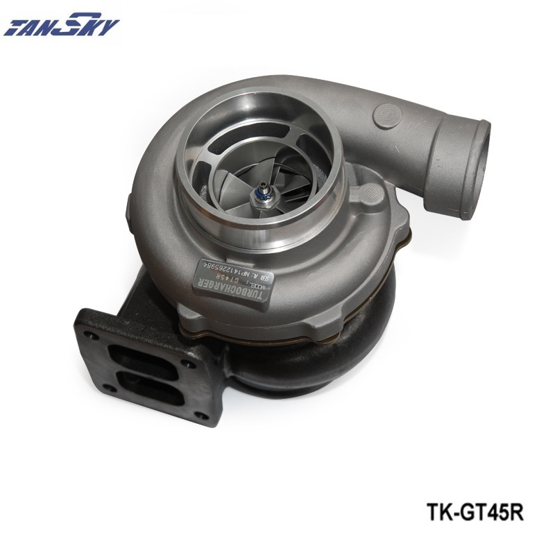 TANSKY - GT45R Turbocharger A/R .70 A/R 1.00 T4 V-band Turbo Oil Cooled TK-GT45R