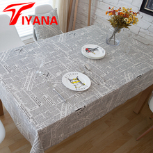 Linen Table Cloth European style Newspaper Design Words Print High Quality Tablecloth Table Cover manteles para mesa #30