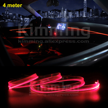 Universal Car Interior Ambient Light Panel illumination for Car Inside Cool Strip Light Optic Fiber Band Decorative lights