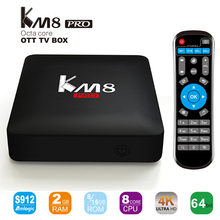 KM8 Pro Smart TV Box Android 6.0 TV Box Amlogic S912 Octa Core RAM 2GB ROM 16GB Bluetooth 4.0 2.4G/5G Dual WIFI 4K Set Top Box(China)
