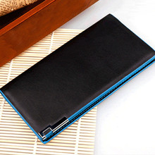 Ulrica Modern High Quality Men Long section Bifold Business Leather Wallet Card Holder Coin Wallet Purse Free shipping