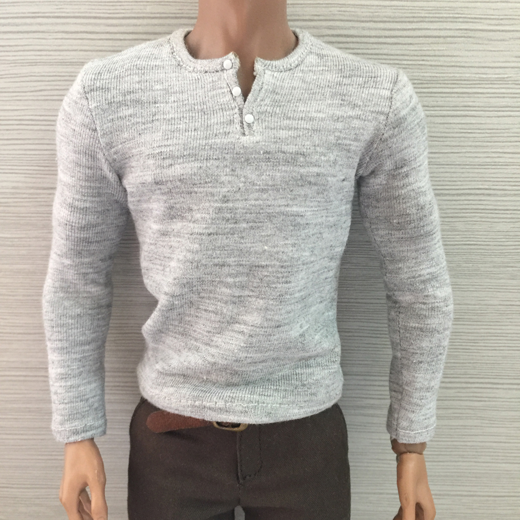 1:6 Long T-Shirt Jeans Pants for 12/'/' Hot Toys Dragon TTL Male Action Figure