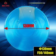 130mm Diameter Round Optical PMMA Plastic Big Solar Fresnel Lens Focal Length 140mm Solar Concentrator Large Magnifying Glass(China)