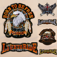 Harley Brand Patch Biker Cheap Embroidered Eagle Band Sew On Patches For Clothing Jackets Letters Patch Applique Badges Patches