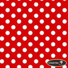 Popular white polka dots hydrographics film water transfer printing film 50cm*10m  hydro dipping HFJ0259