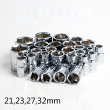 "1/2"" 21,23,27,32mm CR-V Metric Universal Socket Wrench Head Hand Tools Inner Hexagon Spanner Allen Head Auto Repair Tools"