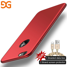 GUSGU Micro Matte Plastic Hard Phone Case for iPhone 6 Plus Shell Mobile Phone 6s Full Protective Back Case Cover(China)