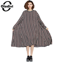 Buy Oladivi Extra Large Plus Size Women Clothing 2017 Spring New Fashion Print Casual Loose Dress Ladies Long Sleeve Vestios Tunic for $22.89 in AliExpress store