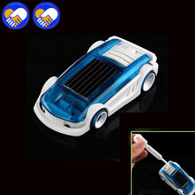 A TOY A DREAM New Creative Children toys Car New Momentum Car Toy Brine/Solar energy Double Powered Cars Best Xmas gifts for Kid(China)