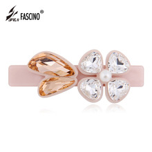 Top Quality Cellulose Acetate Hair Accessories Multicolor Crystal Hair Barrette Clips Jewelry For Women Girls Tiaras (BG810214)