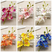 2pcs/lot Silk Artificial Orchid Bouquet For Home Wedding Party Decoration Cheap Cymbidium Scrapbooking Supplies Orchis Plants