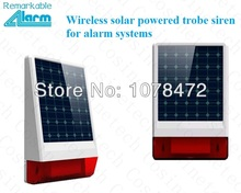 High quality wireless Solar powered siren with LED flash response sound&light  outdoor police siren horn for home alarm systems