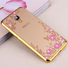 Buy Meizu M5C Case 5.0 inch M710H Bling Flowers Crystal Plating Soft Silicone Back Cover Meizu M5C M 5C Phone Cases Fundas for $1.99 in AliExpress store