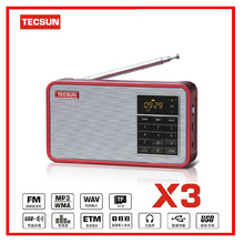 Original Tecsun X3 FM Radio Digital Audio Speaker East Tuning Mode Radio Receiver With LCD Display MP3 Player TF Slot VS Degen(China)