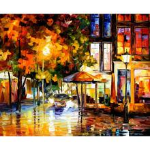 Large wall pictures landscape the windows of amsterdam palette knife oil painting on canvas modern home decor