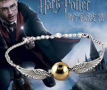 Homme Fashion Jewelry Woman Bracelets Silver Potter Quidditch Retro Gold Snitch Pocket Pulseras Wings Kids Bracelet Girls