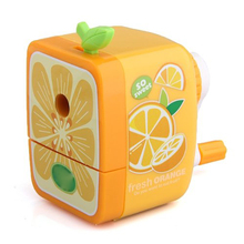 Affordable Orange Pencil Sharpener Hand Crank Manual Desktop School Stationery Kids