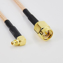 ALLISHOP 1M SMA Male to MMCX male right angle Coax pigtail Cable RG316 For Wifi Wireless Router(China)