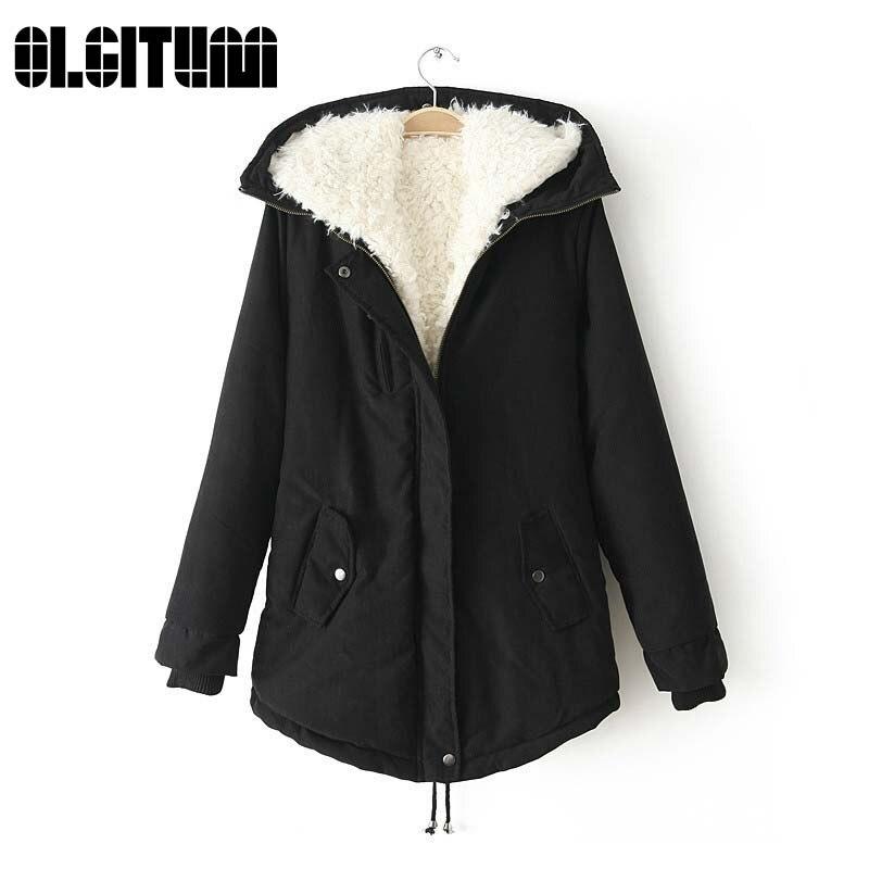 2017 New Winter Jacket Coat Women Casual Parka Woman Outwear Clothes  Long Sleeve Womens Hooded Zipper Winter JacketsÎäåæäà è àêñåññóàðû<br><br>