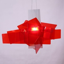 [Dec]65cm Modern White/Red Big Bang Suspension Light Pendant Lamp Ceiling Chandelier FG967(China)
