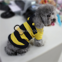 dogs pets clothing and clothes Cute Fleece Bumble Bee Outfit Lovely Wings Dog Cat Pet Costume Apparel Clothes Coat