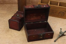 2Pcs/set Retro Nice Storage Boxes European Princess Jewelry Case Antique Wooden Gift Boxes
