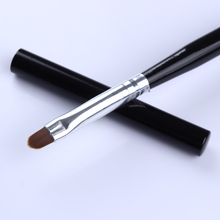 Oval Acrylic Nail Painting Pen UV Gel Drawing Brush Black Handle Manicure Nail Art Tool with Cap(China)