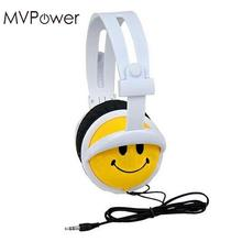 MVpower Cute Smile Face Girls Boys Kids Foldable Headband Handsfree Headphones Earphone Headset(China)