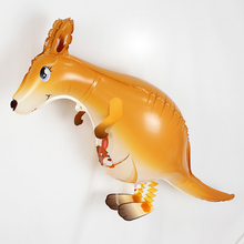 10pcs Walking Pet Balloons kangaroo Walking Animal Foil Balloons Party Decoration Supplies kids Toys Globos Balony