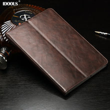 *Luxury Genuine Leather cases For funda ipad air 2 case With Stand and Card Slot Protective Skin laptop bag For iPad Air 2 Cover(China)