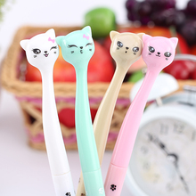 4Pcs / Lot cute cartoon cat gel pen kawaii stationery rollerball pens canetas material escolar office school supplies
