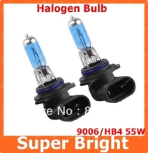 Buy 2 X HB4/9006 Super White 55W Car Fog Lamp Halogen Xenon Light Bulbs 12V Lamp Light Bulbs 6000~6500K Free LLL for $5.47 in AliExpress store
