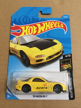 New Arrivals 2018 8a Hot Wheels 1:64 yellow 95th mazda mx-7 Car Models Collection Kids Toys Vehicle For Children(China)